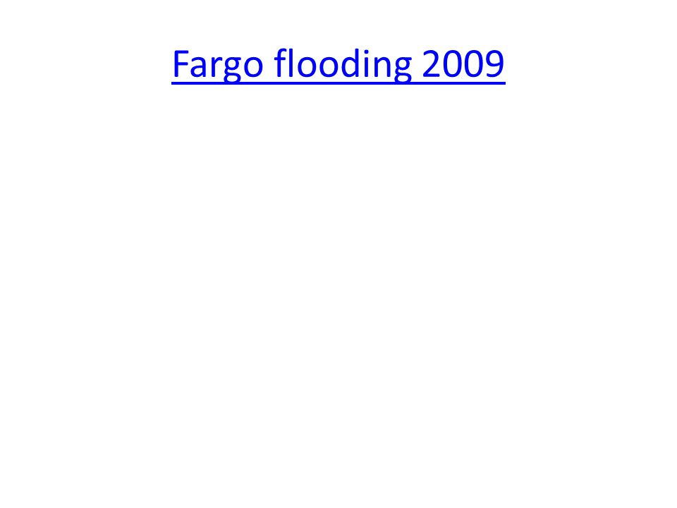 Fargo flooding 2009