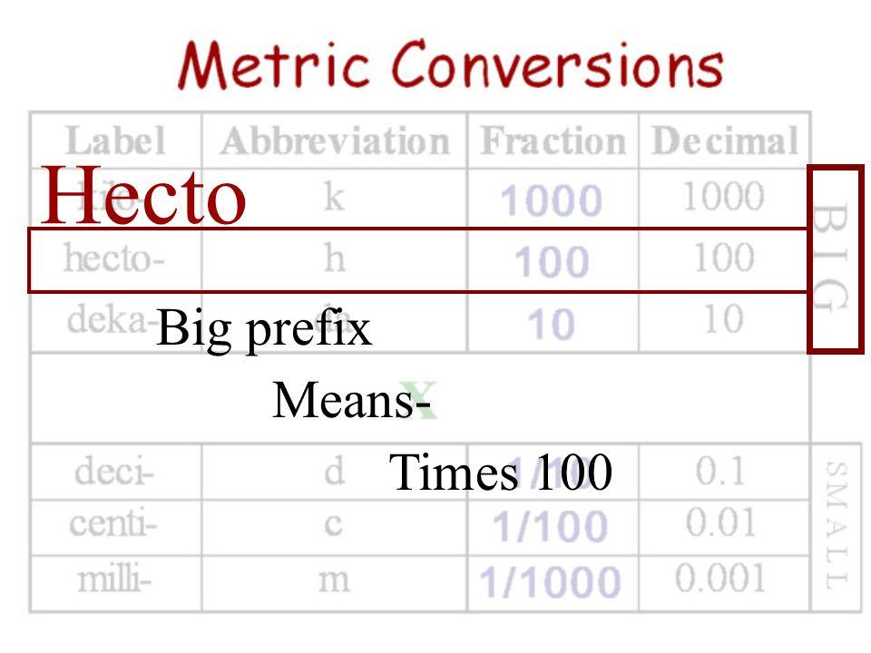 Kilo Big prefix Means- Times 1000