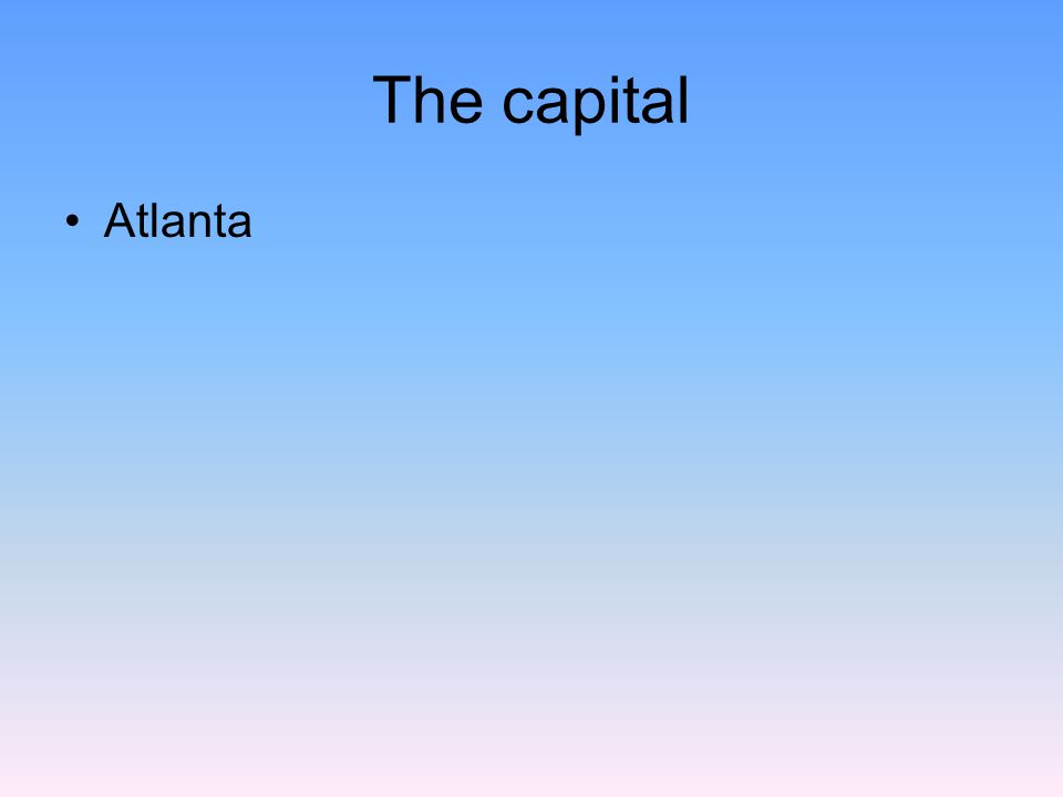 The capital Atlanta