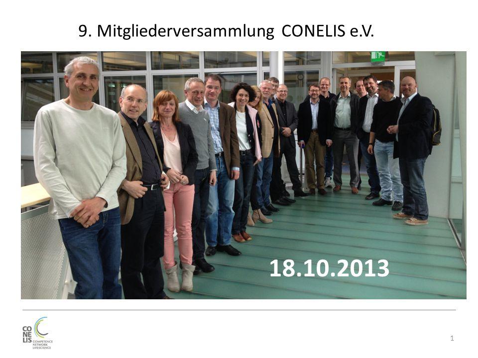 1 9. Mitgliederversammlung CONELIS e.V. 18.10.2013