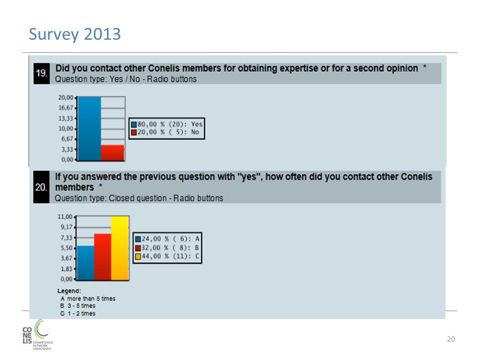 Survey 2013 20