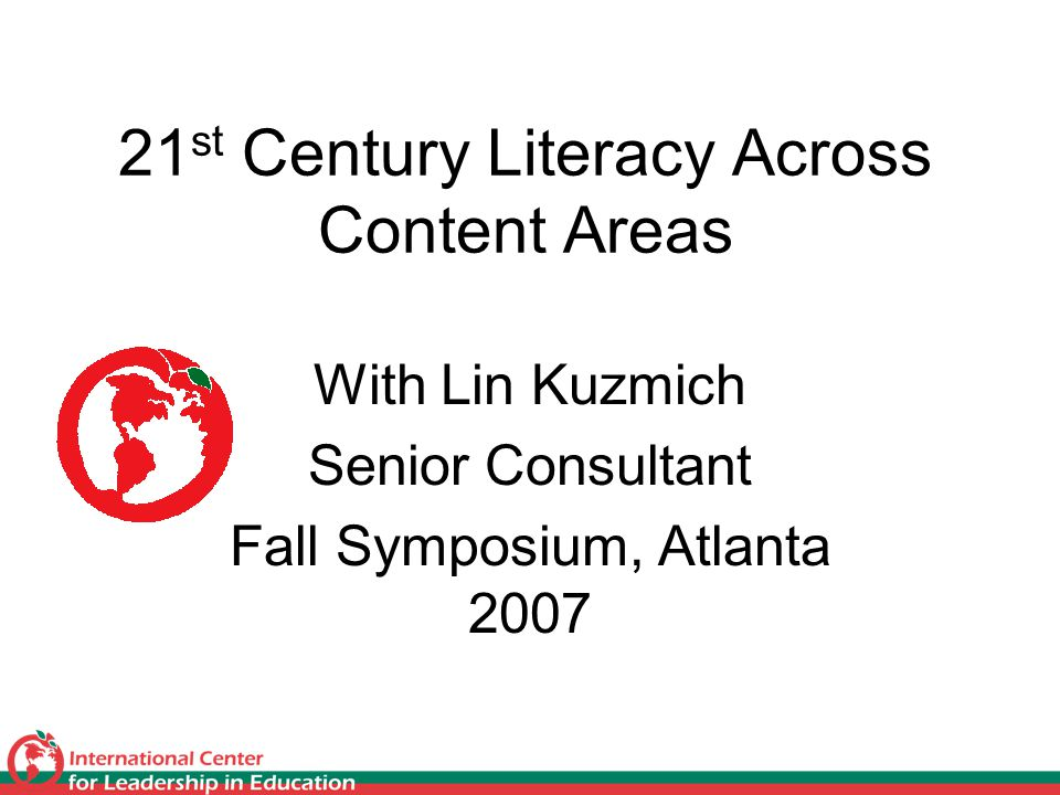 Kuzmich, 200712 Innovative Literacy and Mathematical Fluency Require Creativity 1. Innovation and Creativity: entrepreneurial sense of thinking and acting, fluid and flexible in use of information and transformation of knowledge into new things, attitudes, solutions, products, and/or actions (Gregory and Kuzmich, 2005)