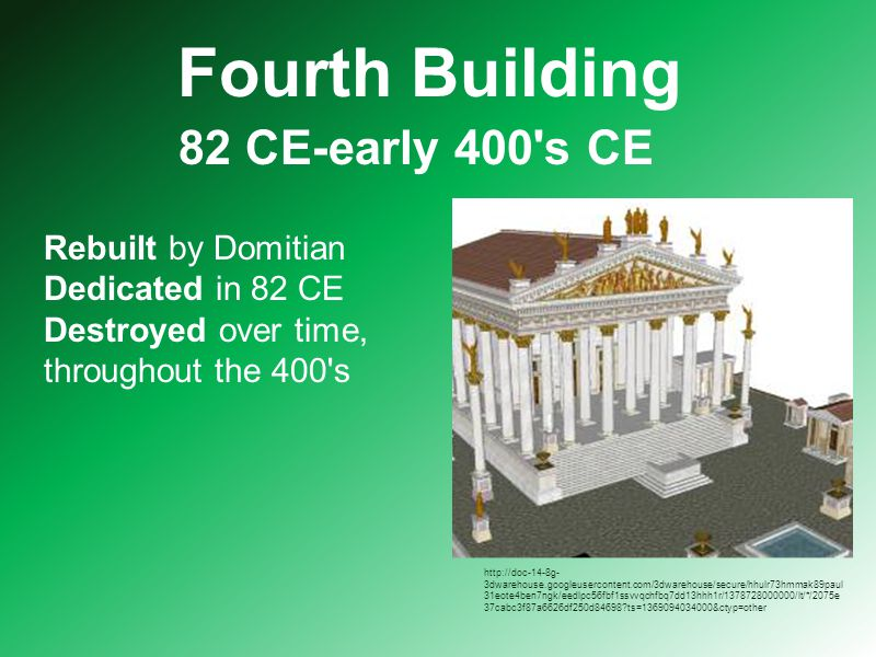 Today The foundation of the temple can still be seen today.