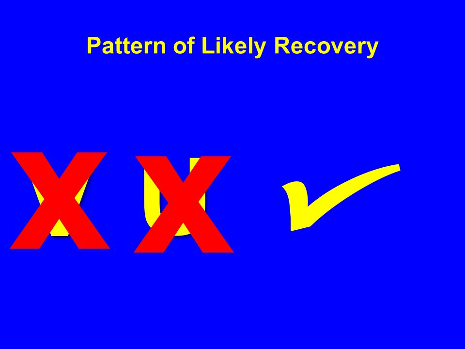 V Pattern of Likely Recovery U x x