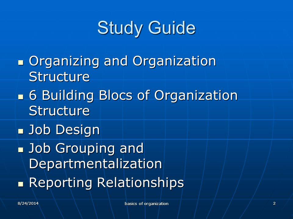 8/24/2014 basics of organization 3 Organisasi & Manajemen Definisasi Manajemen Definisasi Manajemen Proses kerjasama melalui orang-orang dan kelompok untuk mencapai tujuan organisasi (Hersey & Blancahad) Proses Manajemen Proses Manajemen PERENCANAAN ORGANIZING MOTIVATING CONTROLLING