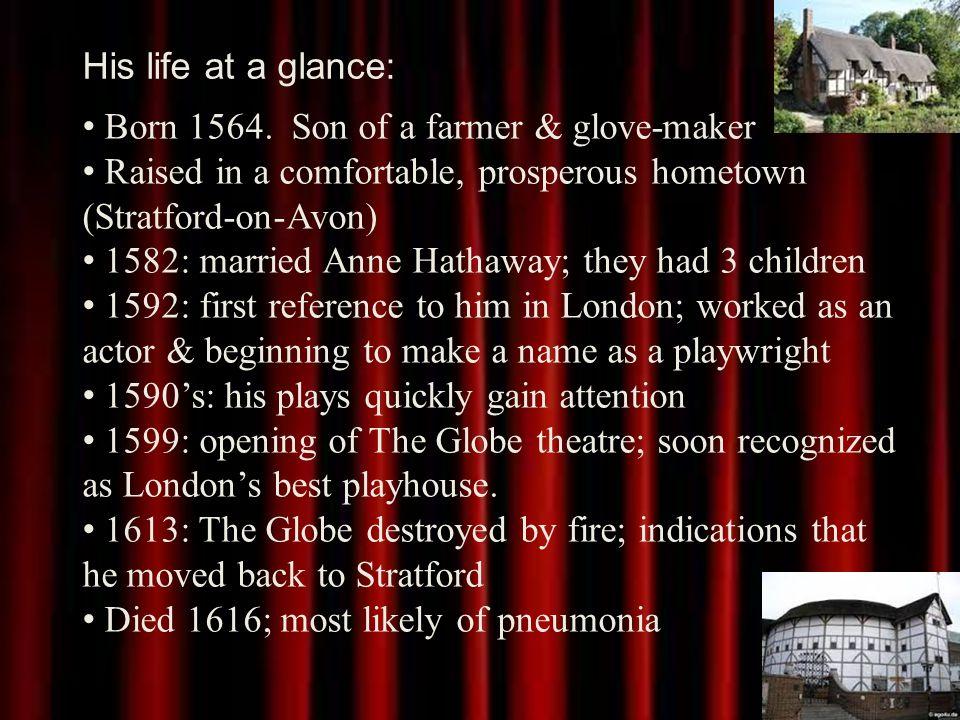 His life at a glance: Born 1564.