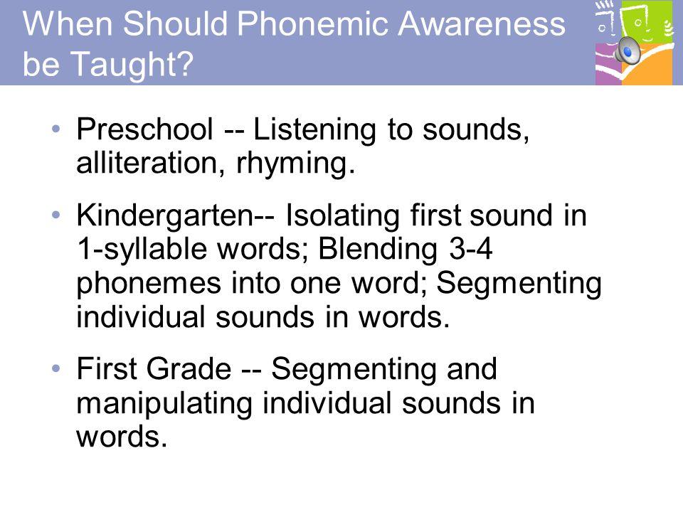 10 Why Phonemic Awareness.