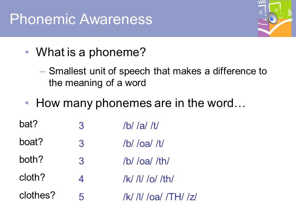 5 What is Phonemic Awareness.
