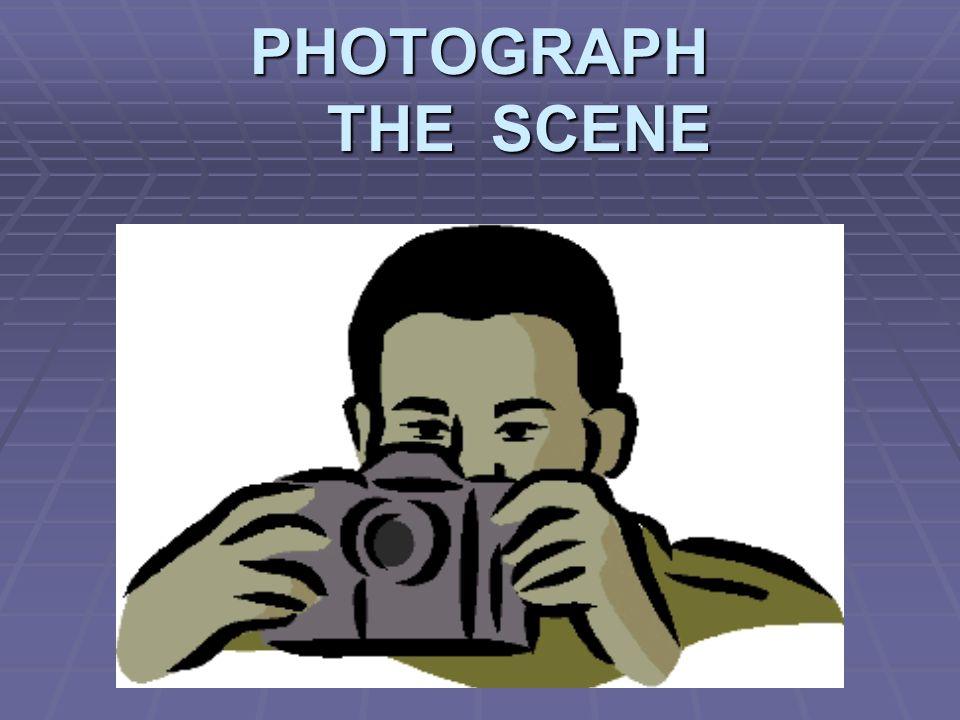 PHOTOGRAPH THE SCENE
