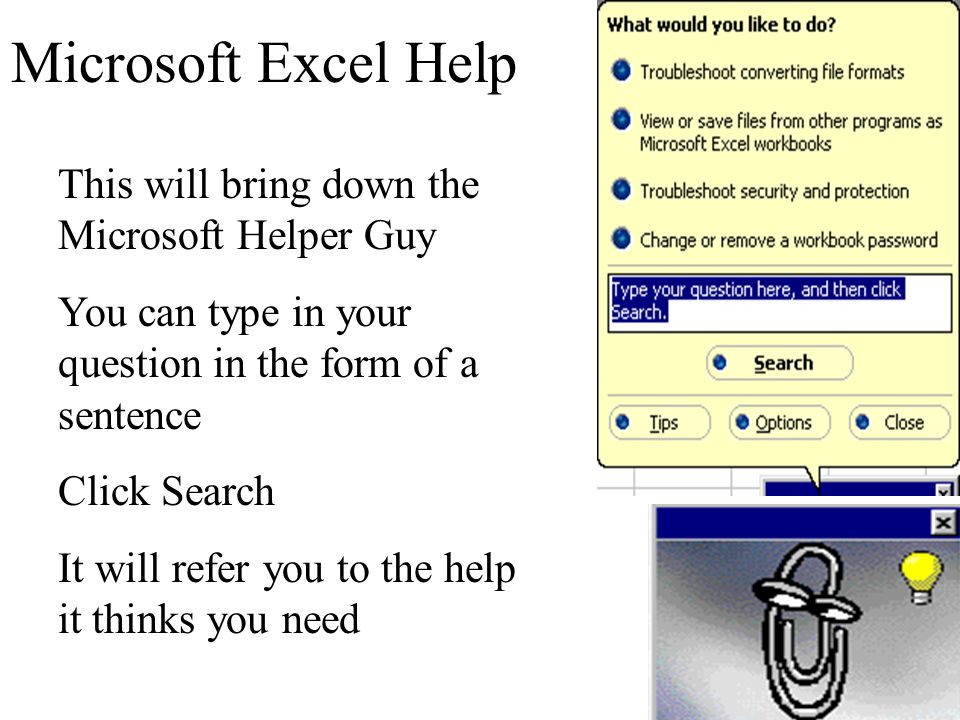 3 Options for Using Help in Excel