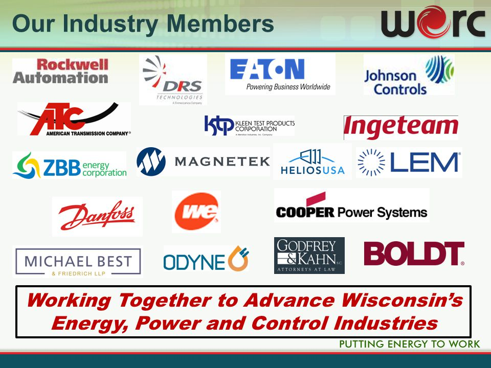 Our Industry Members Working Together to Advance Wisconsin's Energy, Power and Control Industries