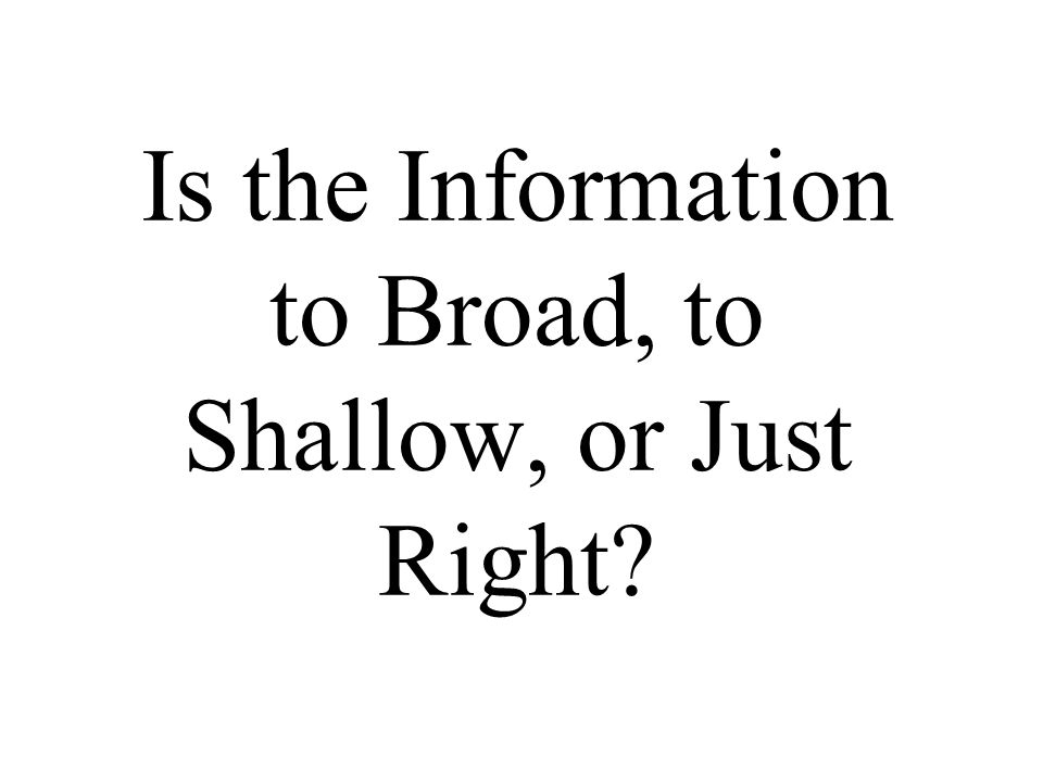 Do you Think the Information is Factual?