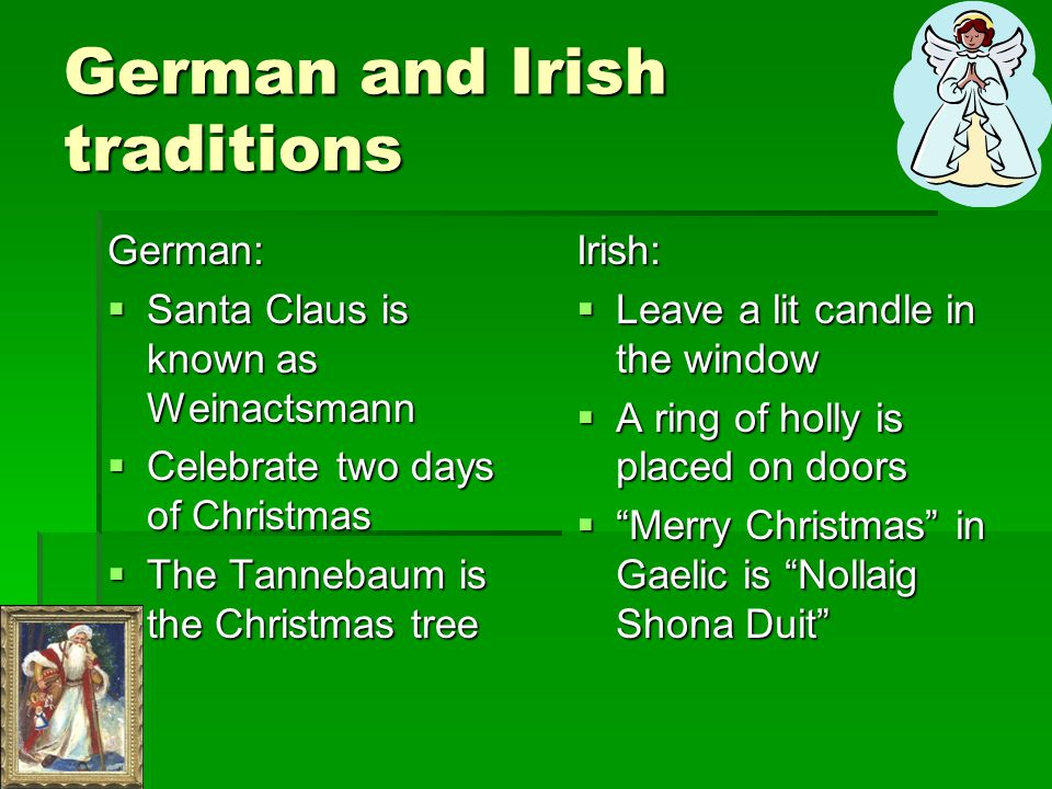 Family traditions German and Irish traditions German and Irish traditions Kuhl Celebration Kuhl Celebration Anderson Celebration Anderson Celebration
