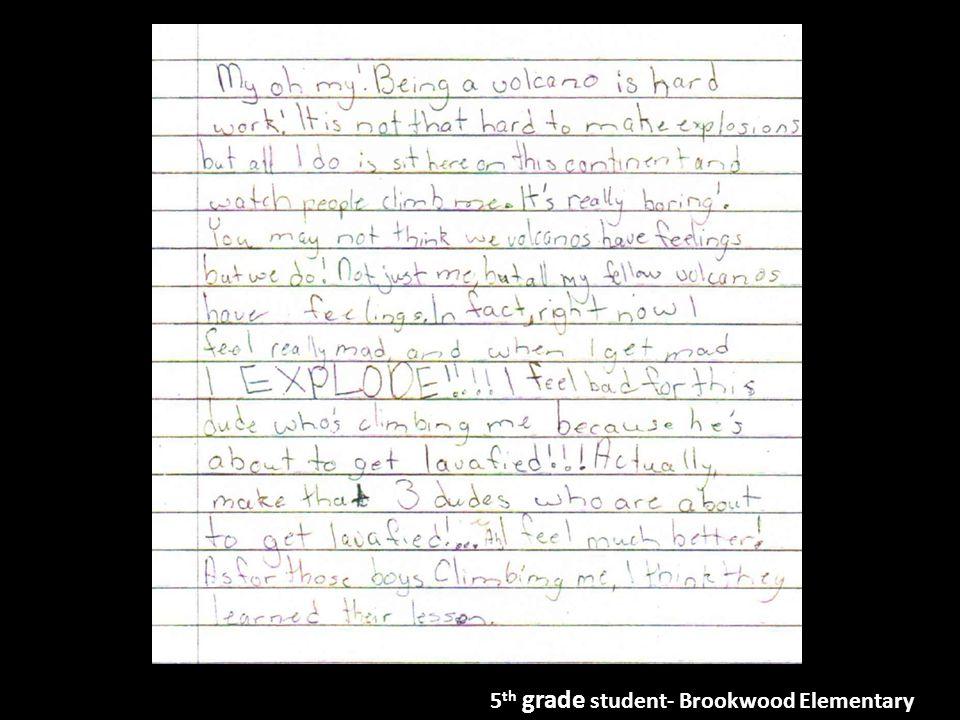 5 th grade student- Brookwood Elementary