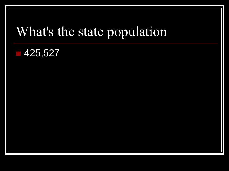 What s the state population 425,527