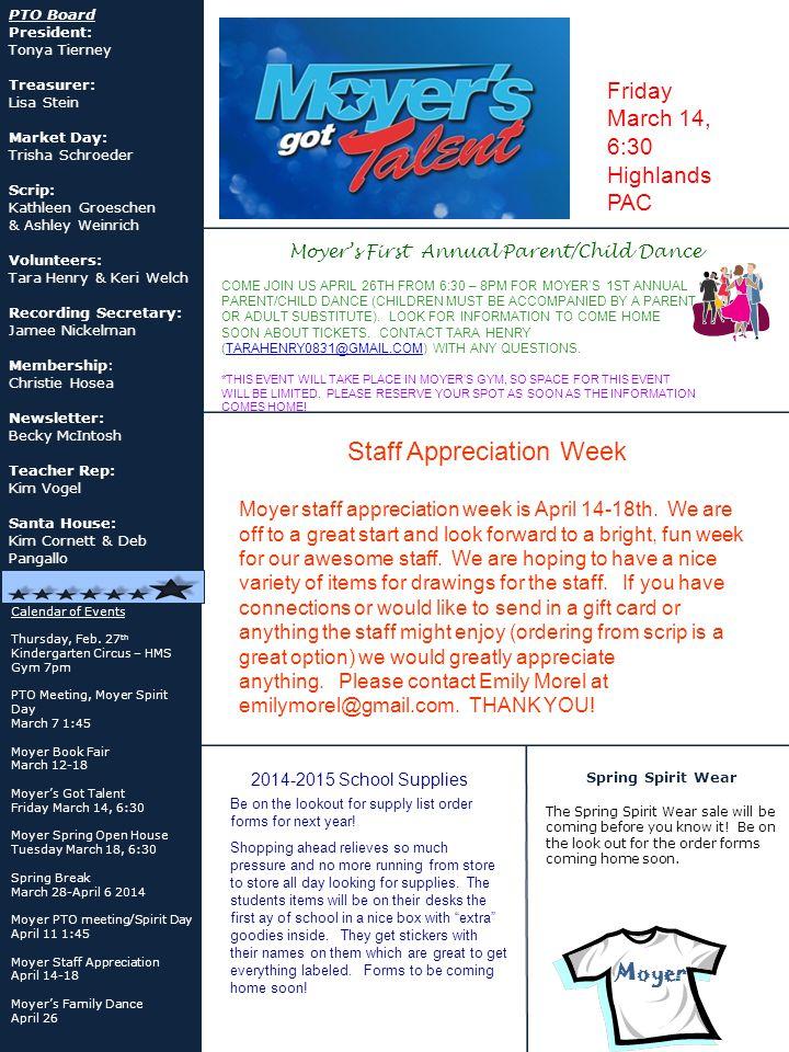 Monday, Feb. 18th: No School!! Thursday, Feb. 14th: Kindergarten Registration Thursday, Feb. 28th: Kindergarten Circus Spring Spirit Wear The Spring S