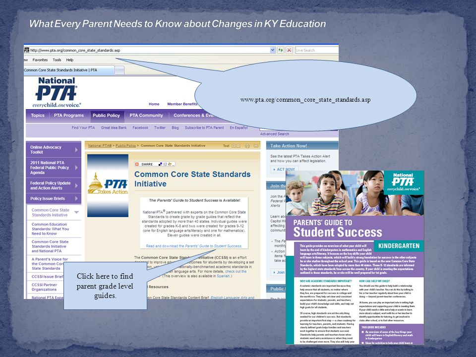 www.pta.org/common_core_state_standards.asp Click here to find parent grade level guides.