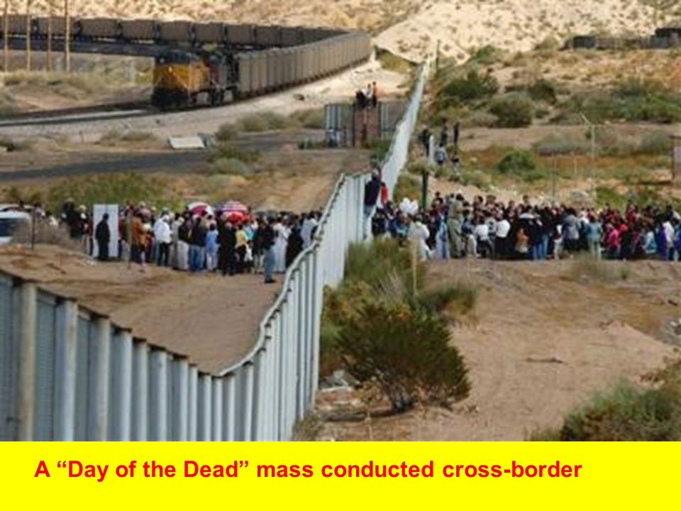 """A """"Day of the Dead"""" mass conducted cross-border"""