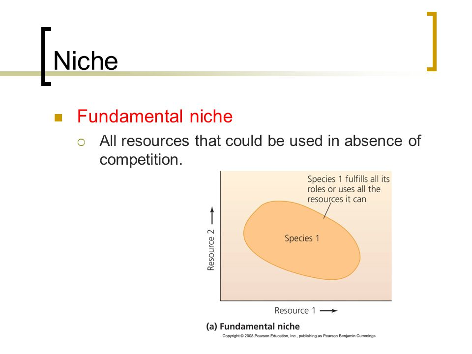 Realized Niche Realized niche Resources actually used in the presence of competitors.