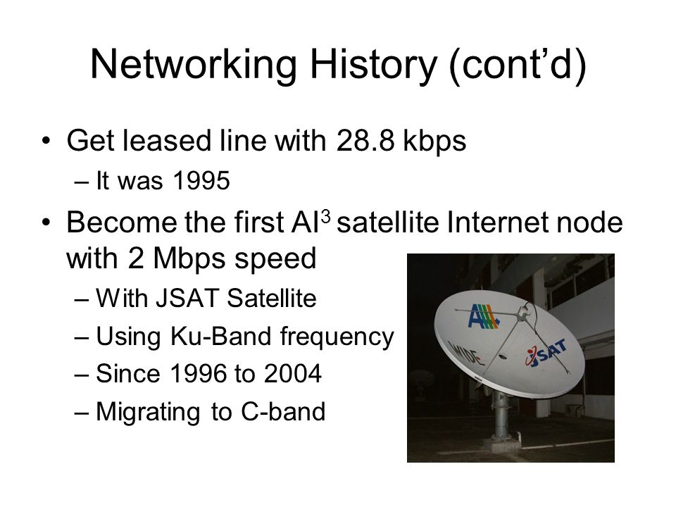 Our Current AI 3 Groundstation C-band Dish for UDL 13 Mbps shared downlink C-band Dish for BDL 1.5 Mbps Uplink