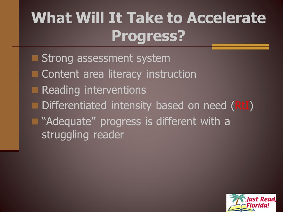8 What Will It Take to Accelerate Progress.