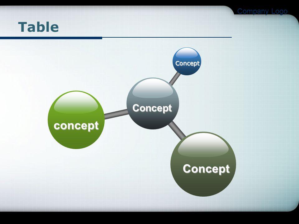 Company Logo Table Concept Concept concept Concept