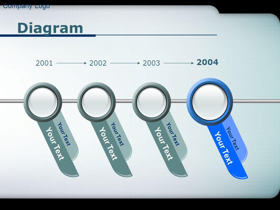 Company Logo Diagram Your Text 200120022003 2004