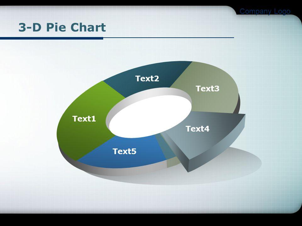 Company Logo Text1 Text2 Text3 Text4 Text5 3-D Pie Chart