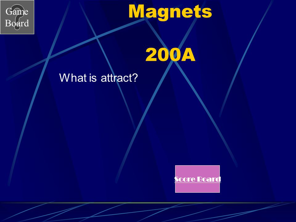 Game Board Magnets 200 Unlike charges _____________. See Answer
