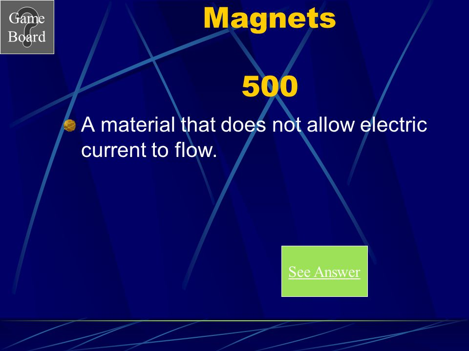 Game Board Magnets 400A What is electromagnet induction? Score Board