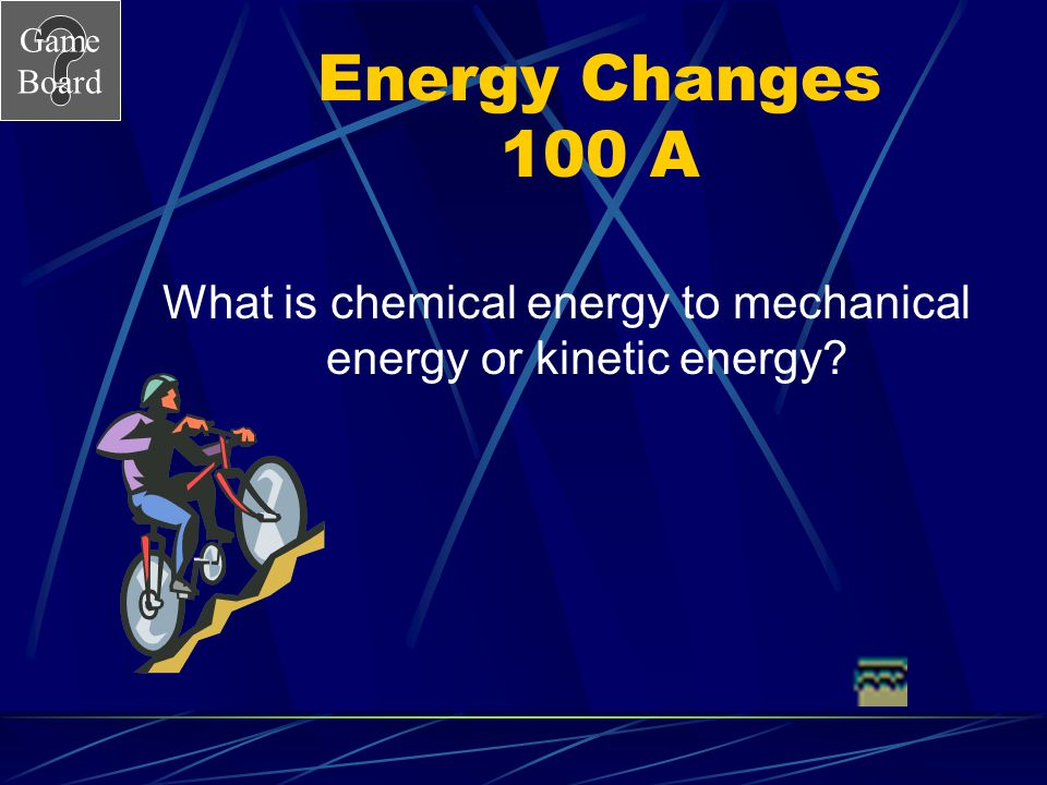 Game Board Chemical Energy 100A What is an …. Endothermic Reaction?