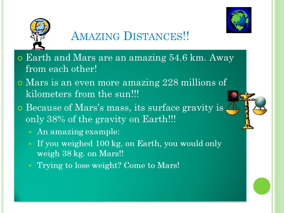 A MAZING FACTS ABOUT M ARS !!!. Our planet has the largest canyon in the solar system.
