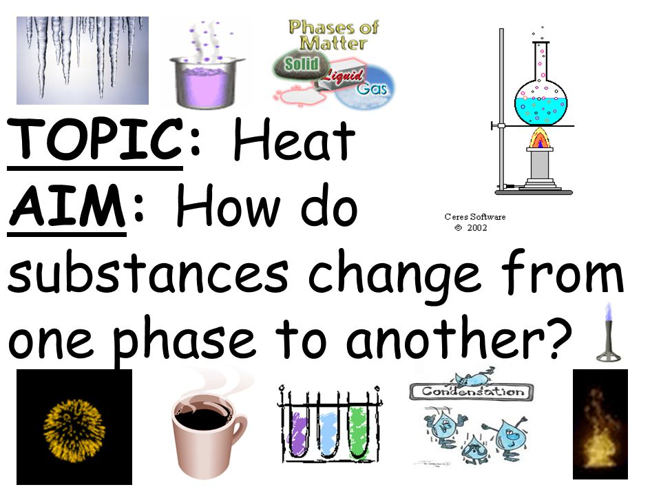 TOPIC: Heat AIM: How do substances change from one phase to another