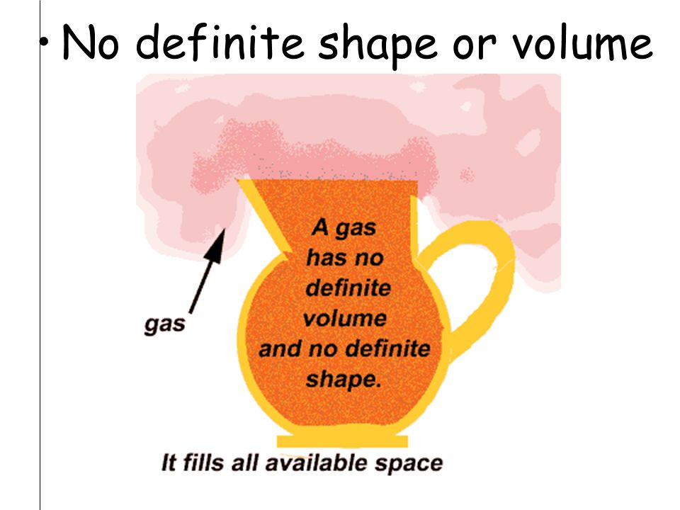 No definite shape or volume