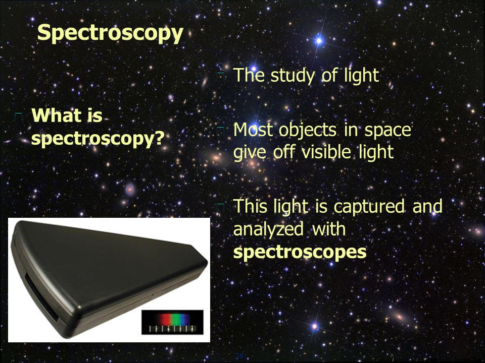 26 Spectroscopy  What is spectroscopy.