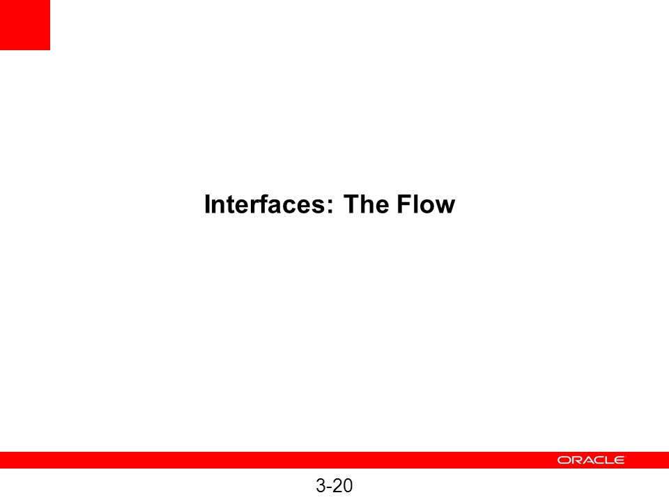 3-20 Interfaces: The Flow