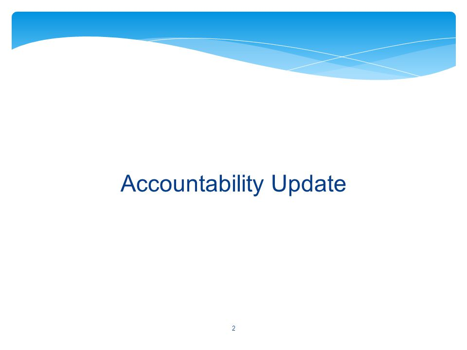 Accountability Update 2