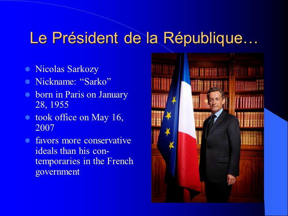 Les Symboles de la République Française FlagNational Emblem