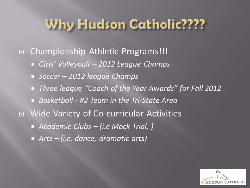 " Championship Athletic Programs!!!  Girls' Volleyball – 2012 League Champs  Soccer – 2012 league Champs  Three league ""Coach of the Year Awards"" f"