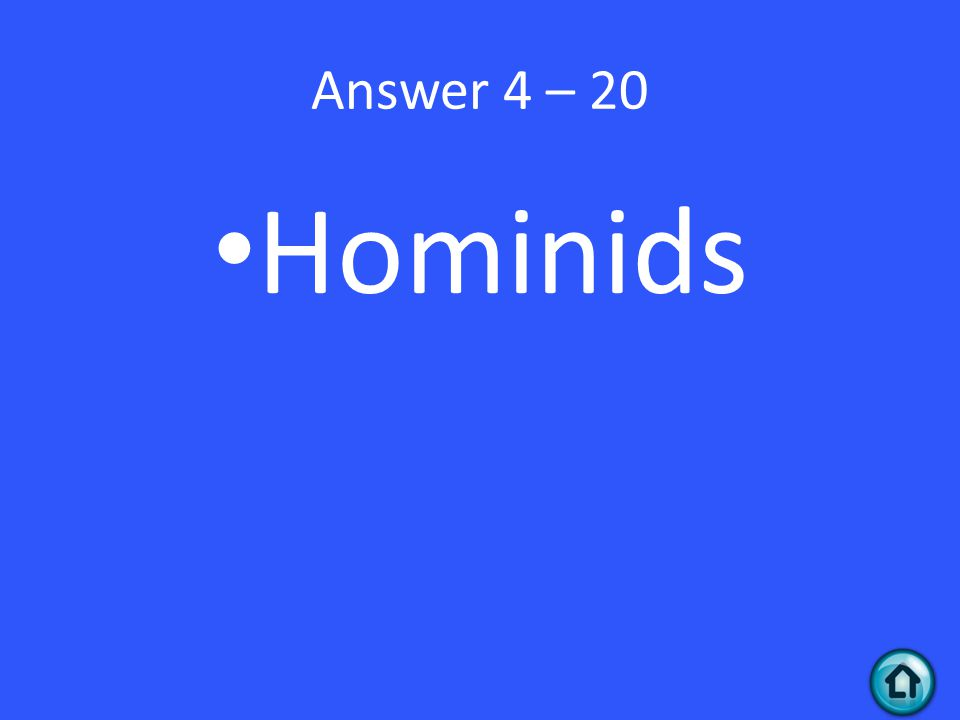 Answer 4 – 20 Hominids
