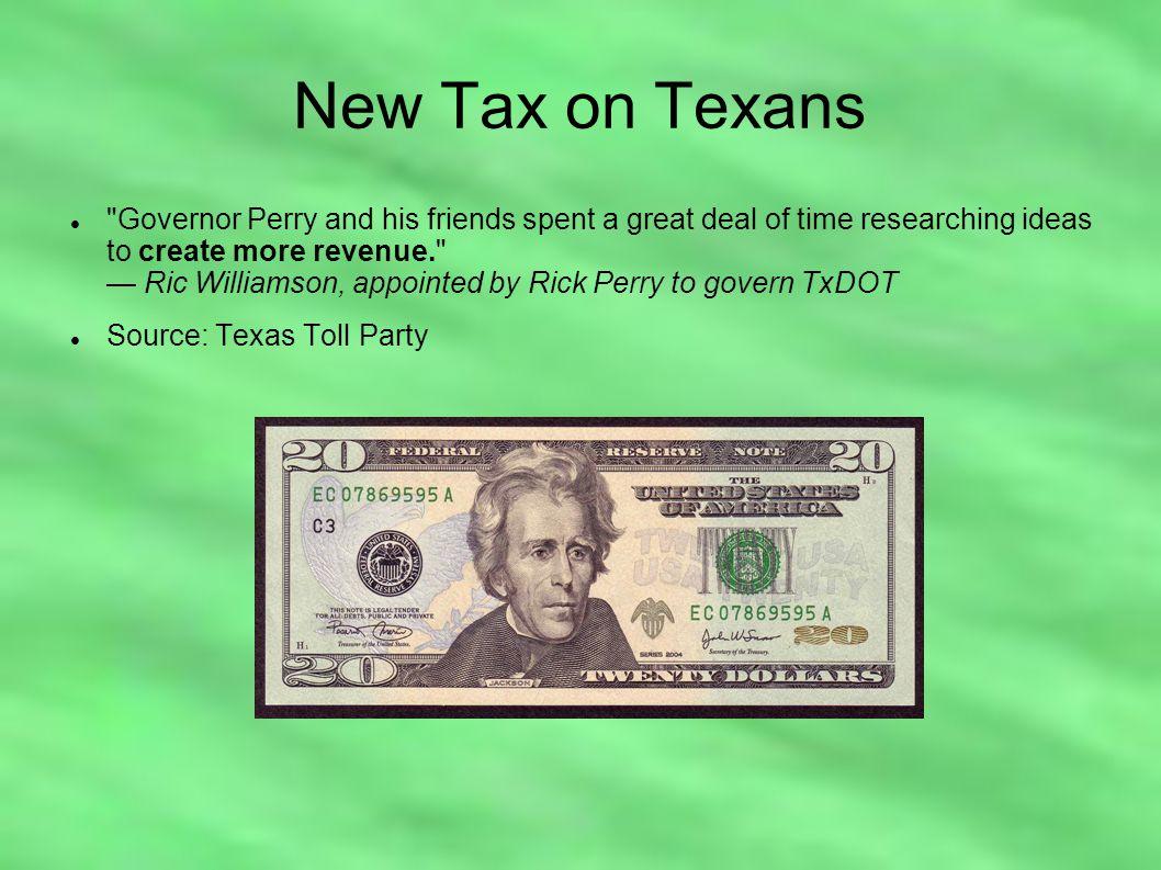 New Tax on Texans