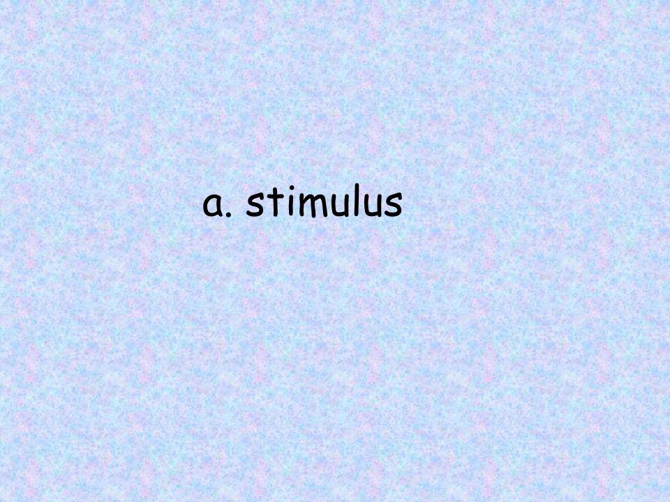a. stimulus