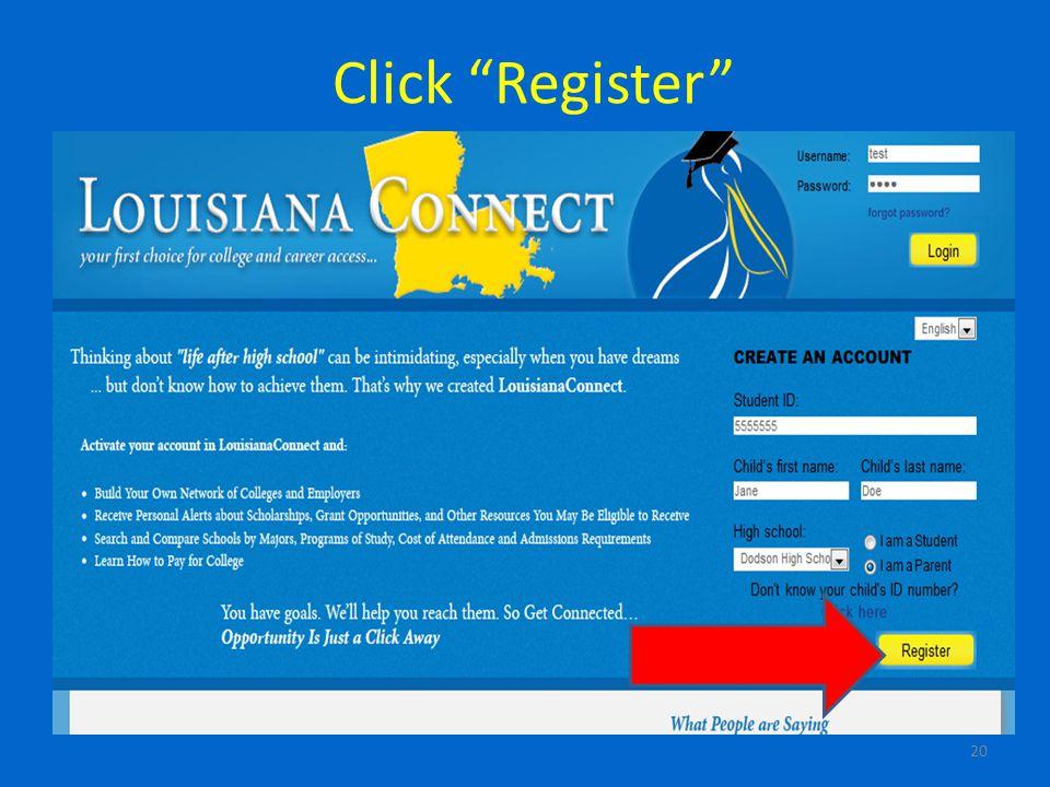 Click Register 20