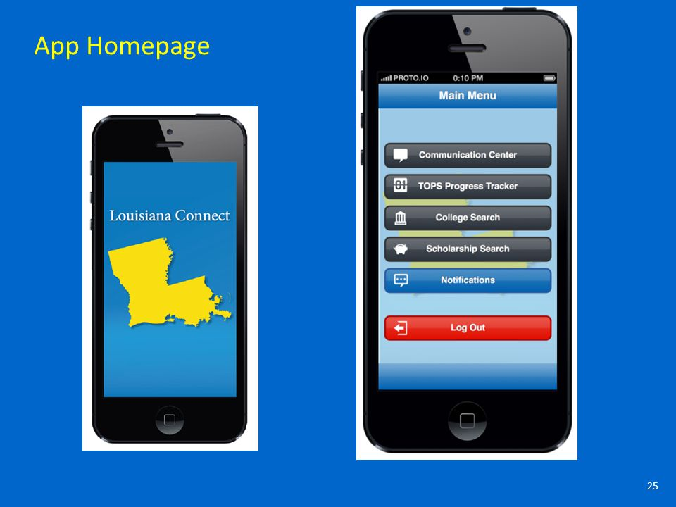25 App Homepage