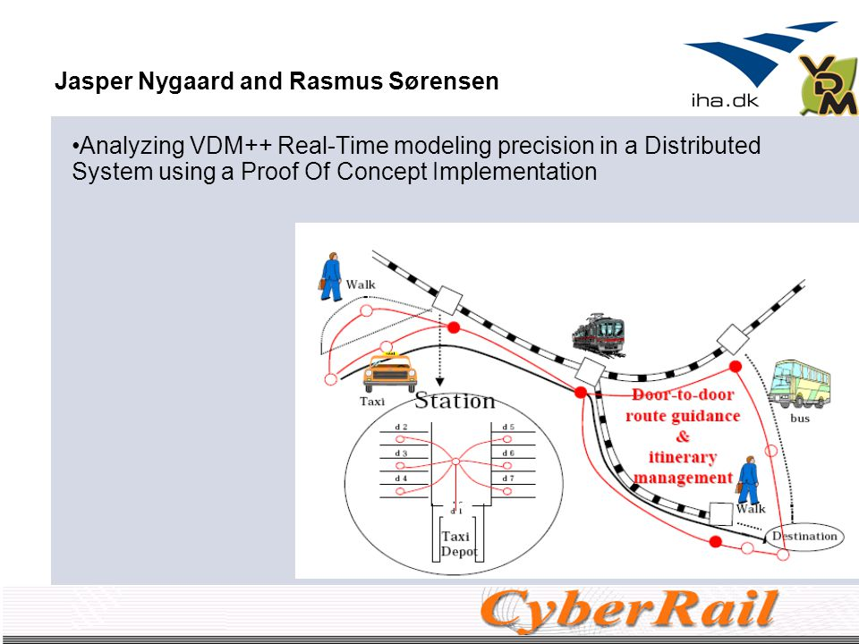 October 2007Potential thesis projects18 Jasper Nygaard and Rasmus Sørensen Analyzing VDM++ Real-Time modeling precision in a Distributed System using