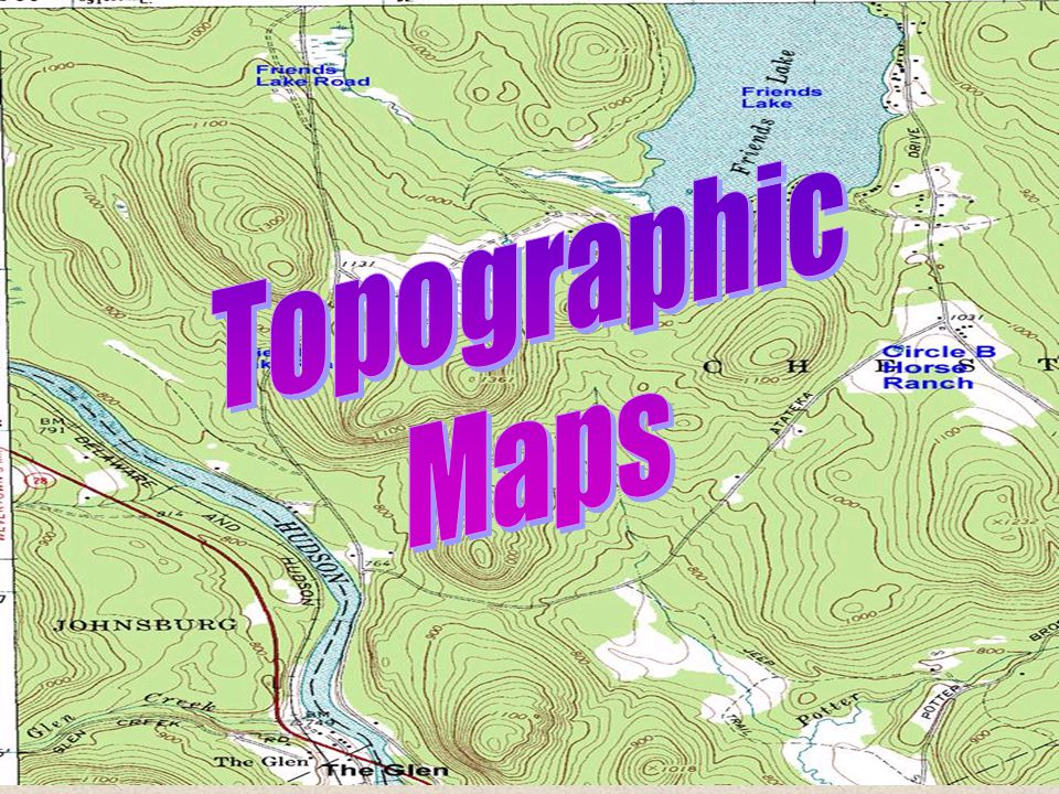 TOPOGRAPHIC MAP A MAP WHICH SHOWS ELEVATION OF THE LAND WITH THE USE OF CONTOUR LINES, SHAPES, AND SYMBOLS CONTOUR LINES LINES DRAWN TO CONNECT POINTS OF THE SAME ELEVATION