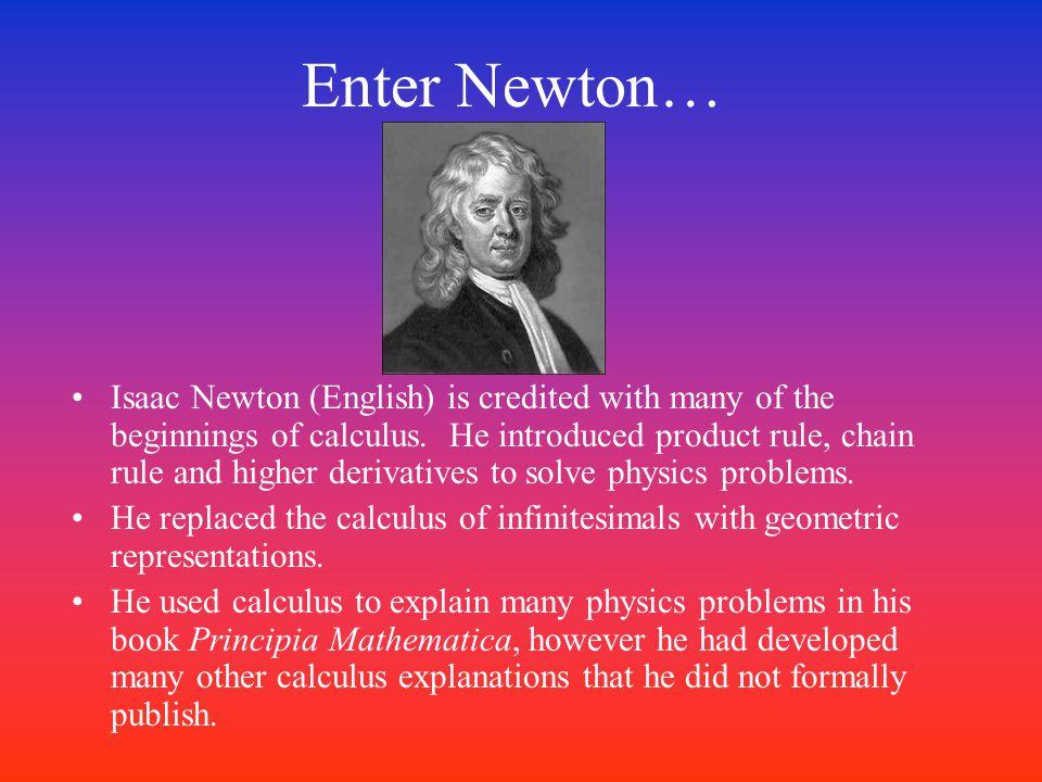 …and Leibniz Gottfried Wilhelm Leibniz (German) systemized the ideas of calculus of infinitesimals.