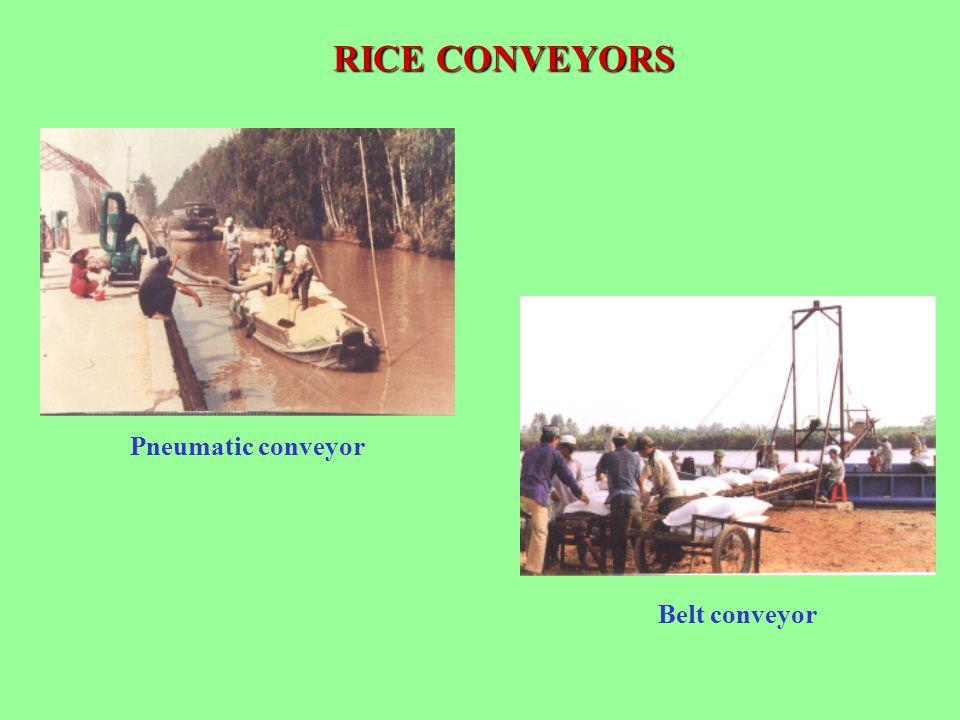 RICE CONVEYORS Belt conveyor Pneumatic conveyor