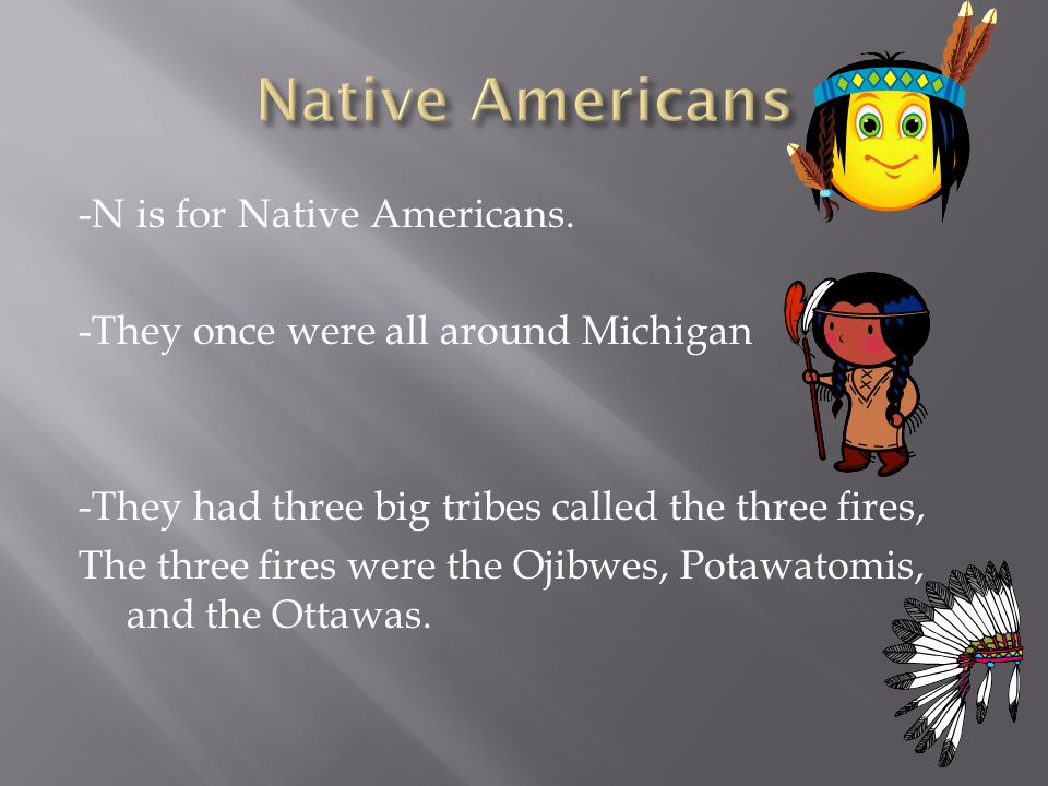 -N is for Native Americans.