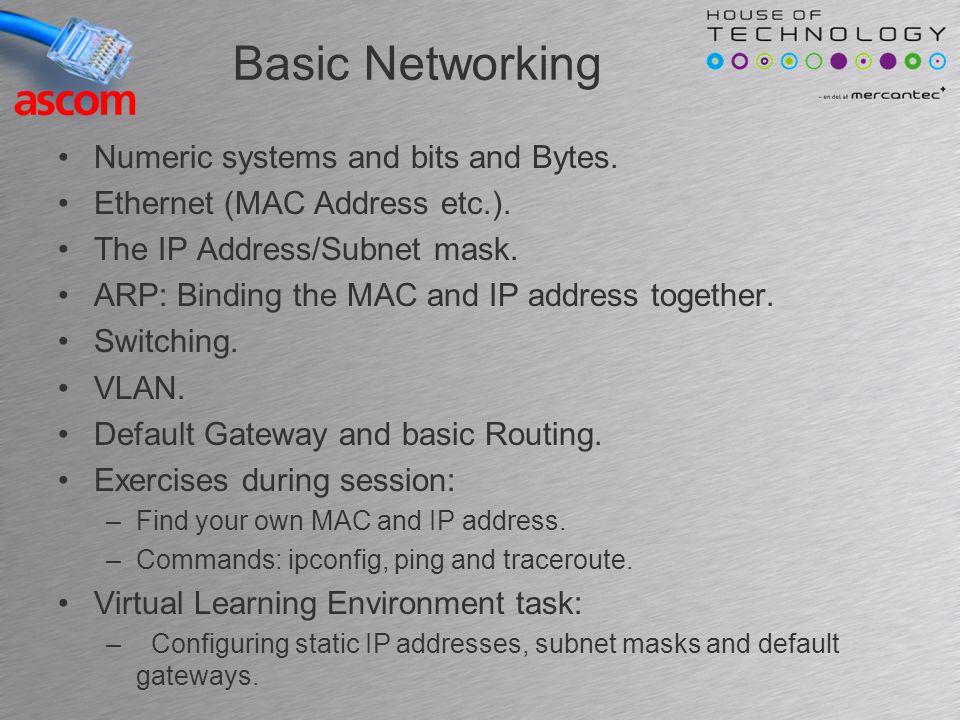 ARP Address Resolution Protocol Binding the MAC address and the IP address